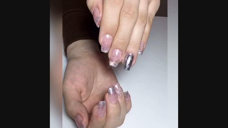 Нарощенные ногти новогодние