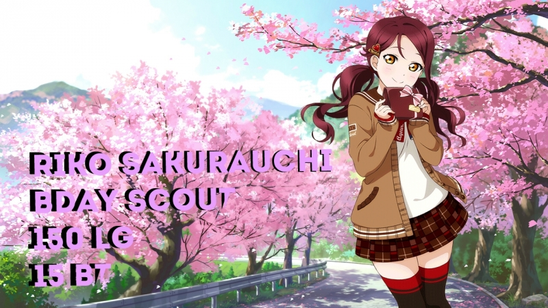 Riko Sakurauchi B-Day Scout by FudoSenpai
