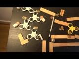 Машина Голдберга из фиджет-спиннеров (6 sec)