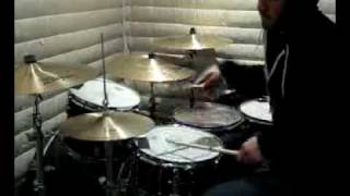 Triplet Groove Lick/Fill Performed In a Hoodie on the Drums and Cymbals With Wooden Drumsticks