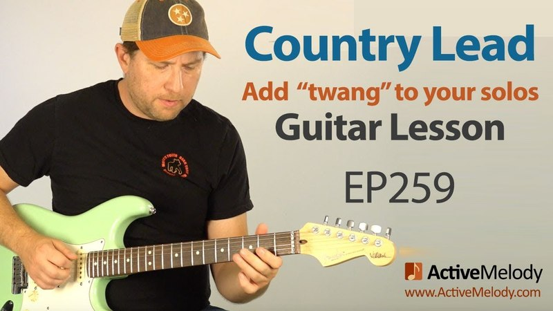 Add twang to your guitar solos. Learn a classic country lead in this country guitar lesson - EP259