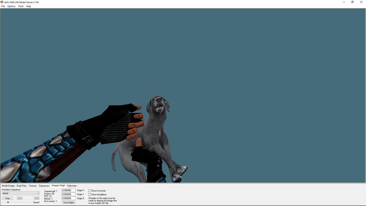 Модель оружия для CS 1.6 - [Dog Gun]