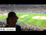 Мик Джаггер в Москве на футбольном матче