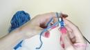Итальянский набор петель с переходом на резинку 1х1 / УРОКИ ВЯЗАНИЯ СПИЦАМИ для начинающих. SM