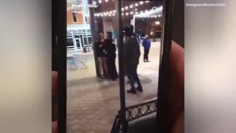 Сolorado police officers body slamming a sorority girl