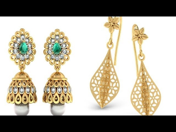 Latest Gold Earring Design    Latest Earring Design    Gold Earring Design    Latest Jhumka Designs