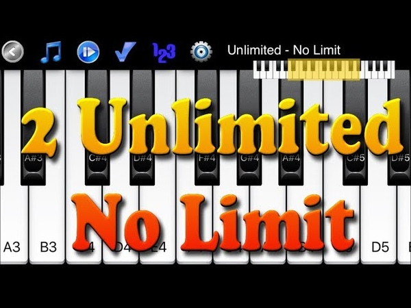 2 Unlimited - No Limit - How to Play Piano Melody