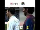 Как менялись Месси и Роналду в FIFA