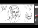 Cubebrush - Painting Character Portraits 03itial Sketch