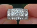 Estate Certified VS1/G Natural 5 Stone Diamond Anniversary 14k White Gold Ring - C797