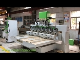 Qatar 4axis cnc router, high precision 8 heads wood carving machines