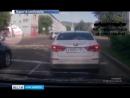 В Железногорске на перекрёстке перевернулся автомобиль