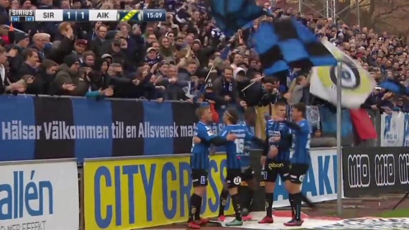 Allsvenskan 2018 Sirius Uppsala 2 3 AIK