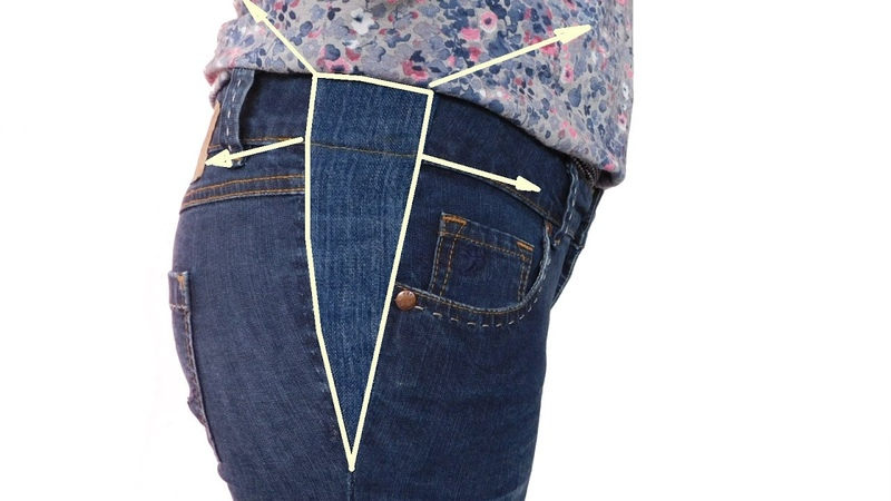Jeans Hose mit einem Keil erweitern - so funktioniert. How to Make a Dress Bigger