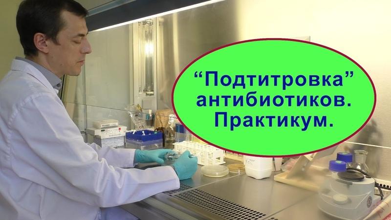 Антибиотики определение чувствительности Основные сведения