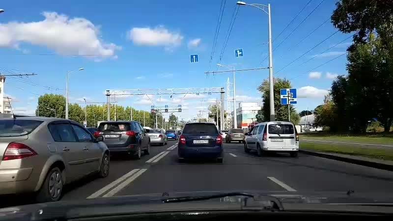 Начальное вождение еду за ученицей
