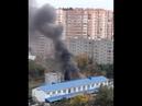Пожар в малярном цехе на Ростовском шоссе в Краснодаре
