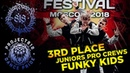 FUNKY KIDS ✪ 3RD PLACE ✪ JUNIORS PRO CREWS ✪ RDF18 ✪ Project818 Russian Dance Festival