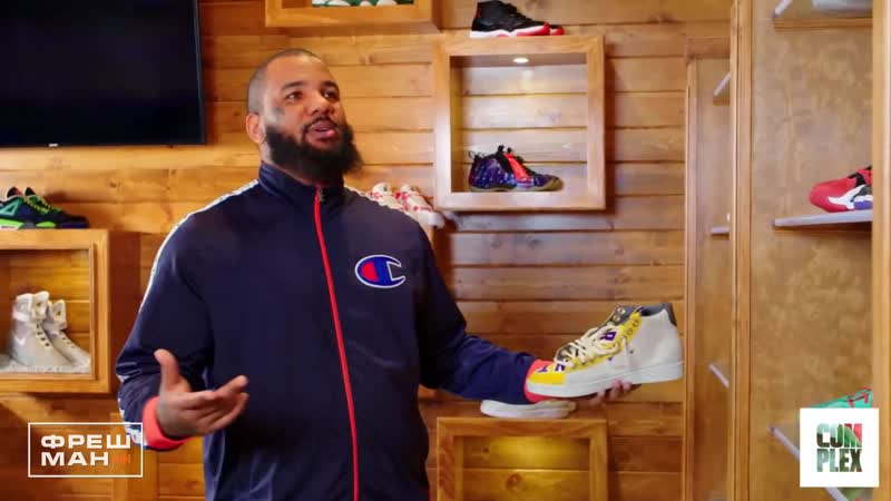 Коллекция Кроссовок The Game | The Game Shows Off His Bulletproof Sneaker Collection On Complex Closets | Complex | Русская озву