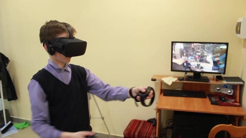 27.04.2018 Часть 1 - Играют в Виртуальную Реальность в поселке Игра - OverKill, SuperHot VR