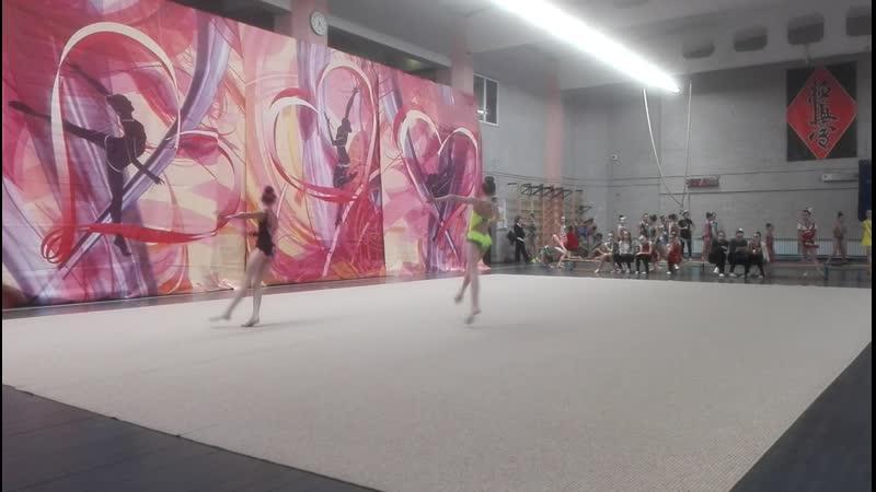 Художественная гимнастика Арабески (Программа Без предмета Даша 9 лет)