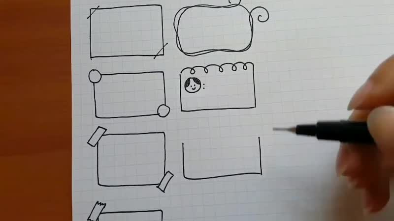 How to draw frames-borders for your planner-bullet journal - Doodle World