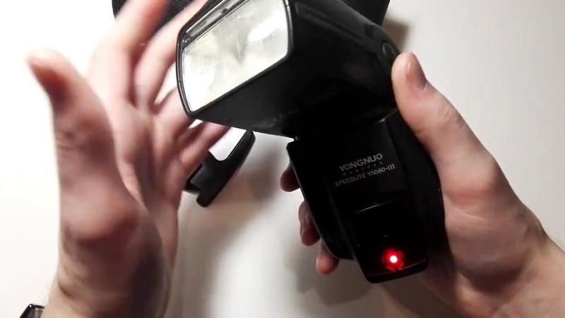 Обзор и настройка вспышки Yongnuo Digital Speedlite YN560 III
