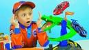 МАШИНКИ для детей - ХОТ ВИЛС Треки - Полицейские Машинки - Пожарные Машинки - ЛЕГО СИТИ