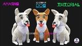 3D Origami Dog Tutorial 132 Ultra HD - Origami 3d Cane Tutorial 132 Ultra HD