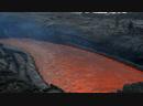 На берегу лавовой реки во время извержения вулкана Плоский Толбачик Камчатка, ноябрь-декабрь 2012.