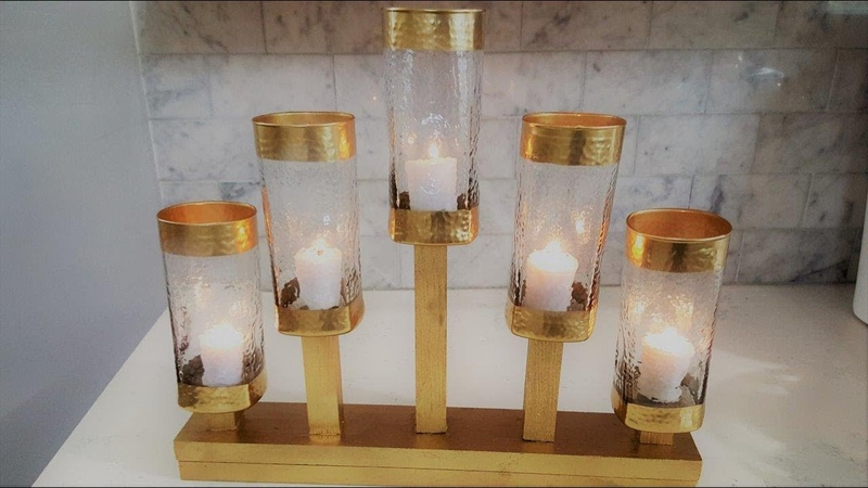 Centerpiece DIY 5 Light Candle Holder Using Dollar Tree Vases