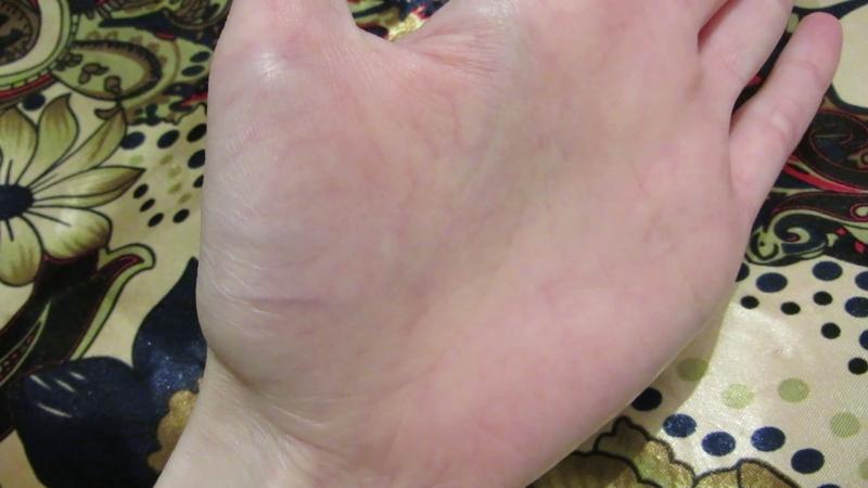 Образ на ладони венозно капиллярный рисунок