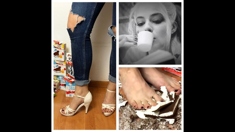 CRAZY! Barefoot Messy Crush - Lady Kati Crush Fetish 4K (18) 足フェチ