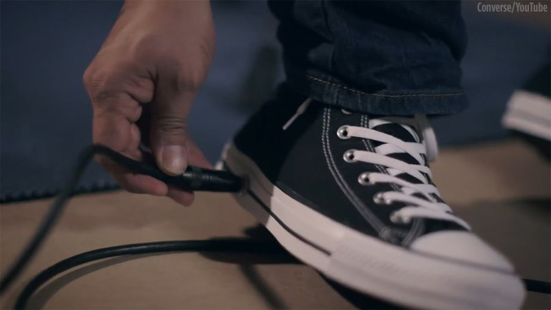 Converse releases sneaker with a built-in wah-wah foot pedal