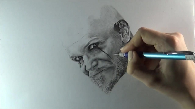 Pencils drawing - Floki Vikings (Gustaf Skarsgård) Викинги, Флоки