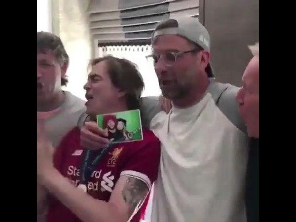 Jurgen Klopp singing Madrid had all the Fucking Luck 😂😂