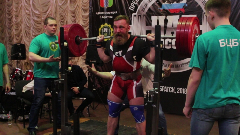 Кирилл Поздняков-присед 1 open (с допинг контролем) AMT RAW, поднятый вес 225 кг, собственный вес 99,4 кг, коэф. Шварца 124,875