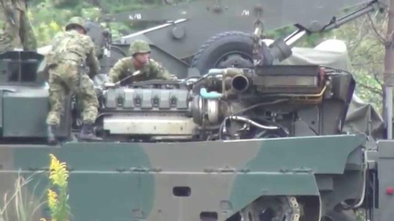 超レア映像!陸上自衛隊 90式戦車のパワーパック(エンジン・動力伝達35