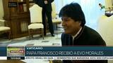 Papa Francisco recibe en El Vaticano al presidente Evo Morales