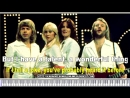 Thank For The Music Karaoke songs with lyrics on the screen - ABBA