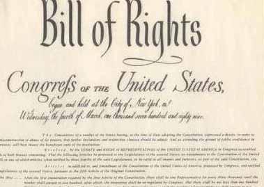 Вторая поправка, часть Билля о правах США, касается права людей хранить и носить оружие.