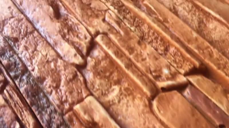 Сланец Альпийский (Коричнево-графитовый) гипсовый камень