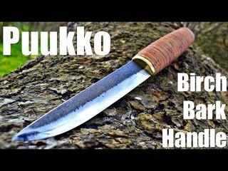 Knife making - Forged Birch Bark Puukko