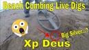 Beachcombing mudlarking metal detecting scotland at the beach xp deus live digs