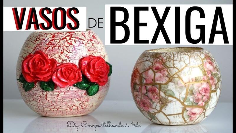 VASOS FEITO COM BEXIGA VASO DE PAPIETAGEM DIY Artesanato e Decoração do Compartilhando Arte