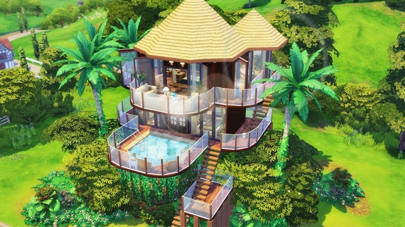 LINDA CASA NA ARVORE *-* (TREEHOUSE) │The Sims 4 (Speed Build)