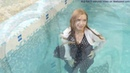 Wetlooker girl Masha is getting wet FULLY CLOTHED!