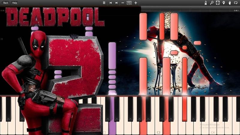X-Men Arrive - Deadpool 2 OST (Synthesia Piano Tutorial)SHEETSMIDI