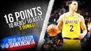 Lonzo Ball Triple-Double 2018.12.15 Lakers vs Hornets - 16 Pts, 10 Rebs, 10 Asts! | FreeDawkins