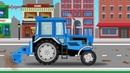 Мультики про машинки. Машинки. Трактор. Машины для детей. Мультик про трактор.